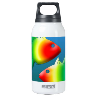 pisces fish animal sea life  signs of the zodiac insulated water bottle