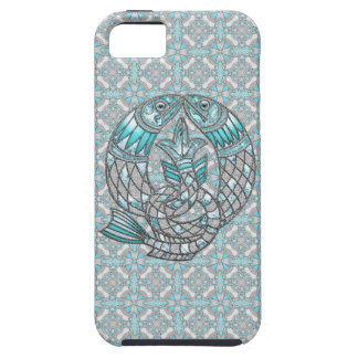 Pisces Fish Aquamarine & Silver Jewels iPhone 5 iPhone SE/5/5s Case