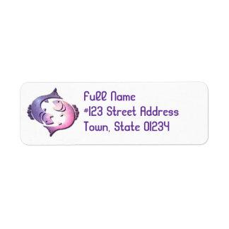 Pisces Fish Return Address Label