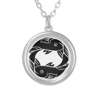 Pisces Fish Zodiac Horoscope Sign Silver Plated Necklace