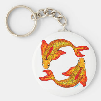 Pisces Fish Zodiac Sign Key Ring Keychain