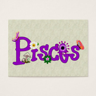 Pisces Flowers Business Card