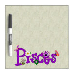 Pisces Flowers Dry-Erase Whiteboards