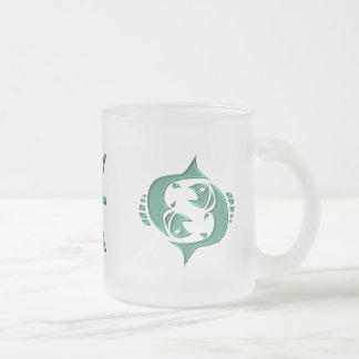 Pisces Frosted Glass Coffee Mug