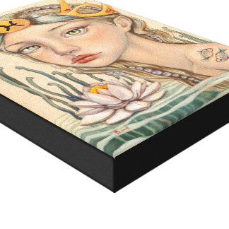 Pisces Girl Stretched Canvas Print