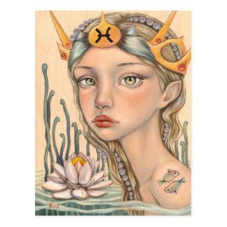 Pisces Girl Postcard