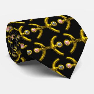 PISCES,Gold Zodiac Birthday Jewel,Black Tie