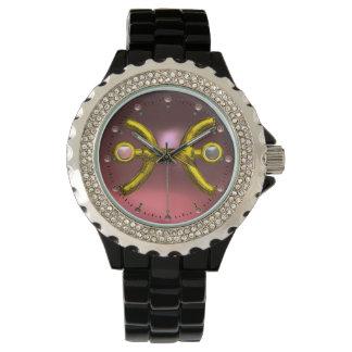 PISCES GOLD ZODIAC BIRTHDAY JEWEL, Pink Pearl Wrist Watch