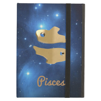 Pisces golden sign iPad air cover