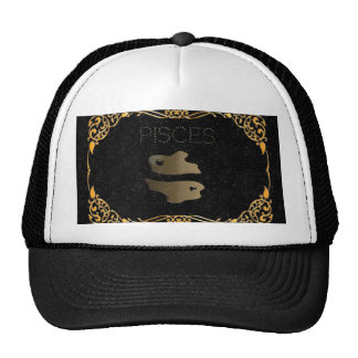 Pisces golden sign trucker hat