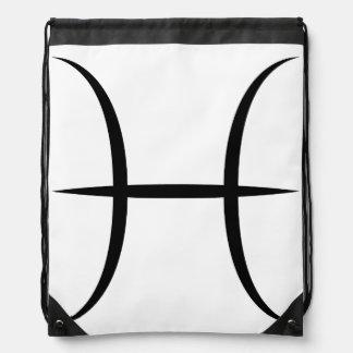 pisces greek astrology zodiac horoscope symbol cinch bags