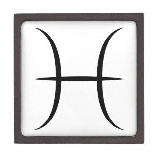 pisces greek astrology zodiac horoscope symbol premium gift box