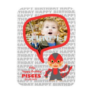 Pisces Happy Birthday Keepsake for kids Magnet