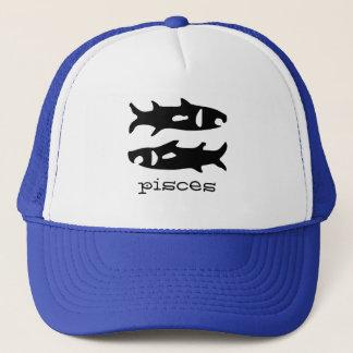 Pisces in black trucker hat