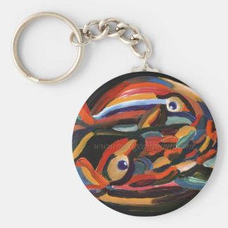Pisces in love basic round button keychain