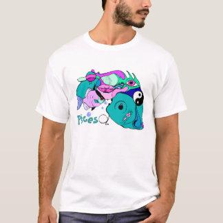 Pisces in Pop Art Symbols Yin Yang Water Fish T-Shirt