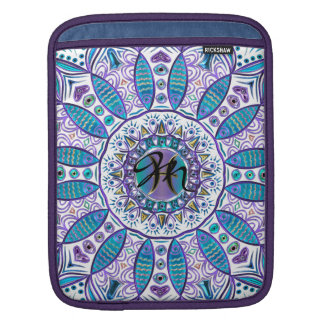Pisces Mandala in Turquoise and Purple Sleeve For iPads