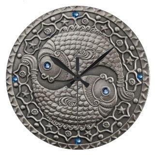 Pisces Medallion Large Clock