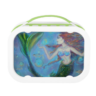 Pisces Mermaid Green LunchBox