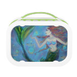 Pisces Mermaid Green LunchBox Lunch Boxes