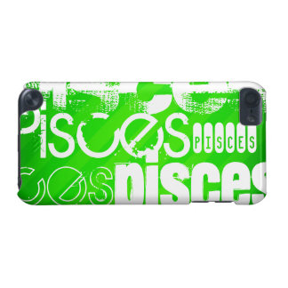 Pisces; Neon Green Stripes iPod Touch 5G Case