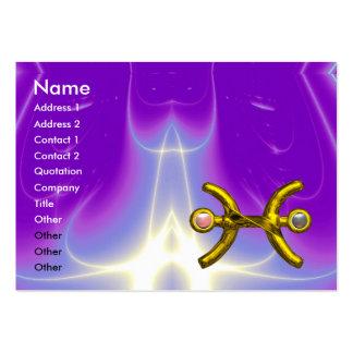 PISCES ,pearl, bright vibrant purple violet Large Business Card