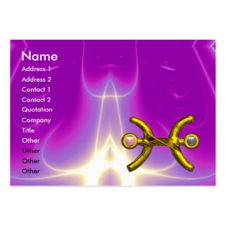PISCES ,pearl, bright vibrant purple violet pink Large Business Card