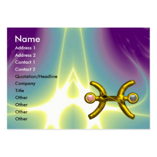 PISCES ,pearl, purple blue pink Large Business Card