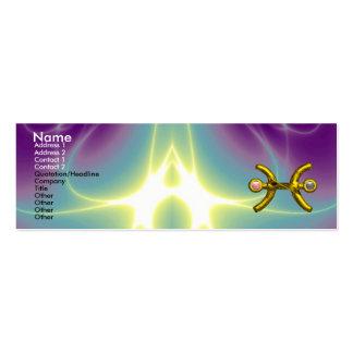 PISCES ,pearl, purple blue pink Mini Business Card