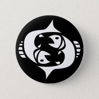 pisces pinback button