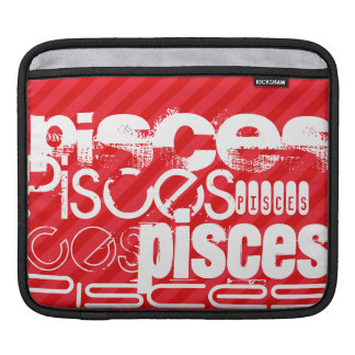 Pisces; Scarlet Red Stripes iPad Sleeve