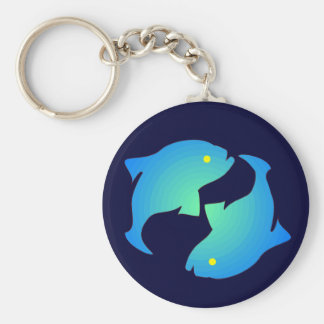 Pisces Silhouette Keychain