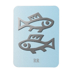 Pisces Silver Fish Zodiac Star Sign Flexi Magnet at Zazzle