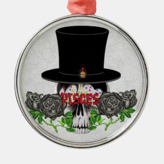 Pisces Skull Ornament