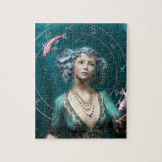 Pisces square zodiac sign jigsaw puzzle