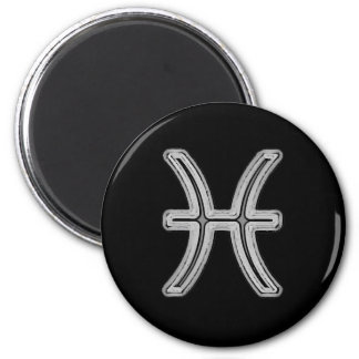 Pisces Star Sign Symbol 2 Inch Round Magnet