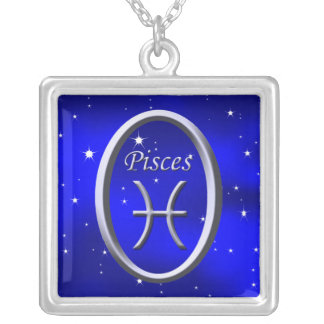 Pisces Starry Night Silver Necklace
