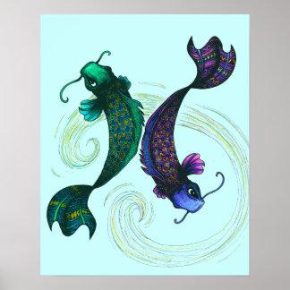 Pisces Symbol Poster