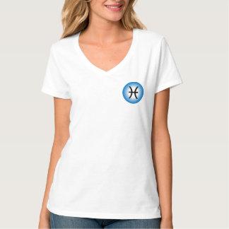 PISCES T SHIRT - Woman's Zodiac Symbol White Tee