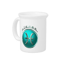 Pisces - The Fish Astrological Sign Beverage Pitcher