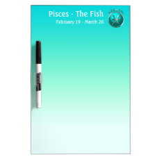 Pisces - The Fish Astrological Sign Dry Erase Board