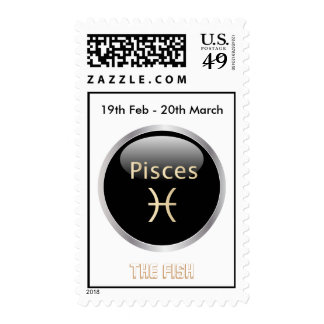 Pisces the fish astrology star sign postage stamp
