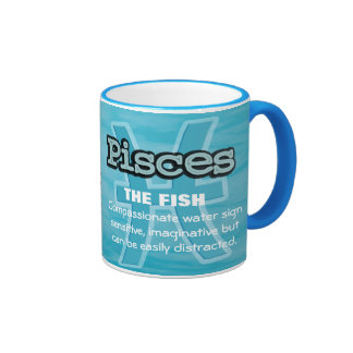 Pisces The Fish water sign astrological mug