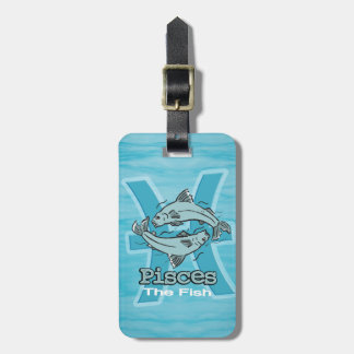 Pisces The Fish water sign id luggage tag