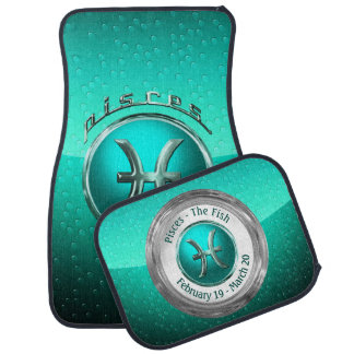 Pisces - The Fish Zodiac Symbol Car Mat