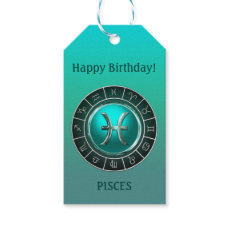 Pisces - The Fish Zodiac Symbol Gift Tags