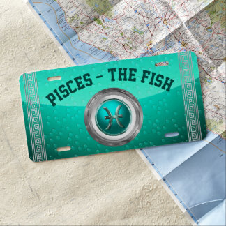 Pisces - The Fish Zodiac Symbol License Plate