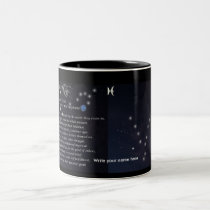 Pisces The Zodiac Collection Two-Tone Coffee Mug