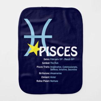 Pisces Traits Baby Burp Cloth