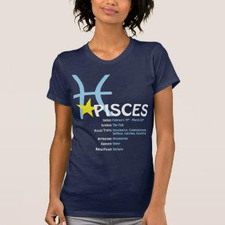Pisces Traits Ladies Dark Petite T-Shirt